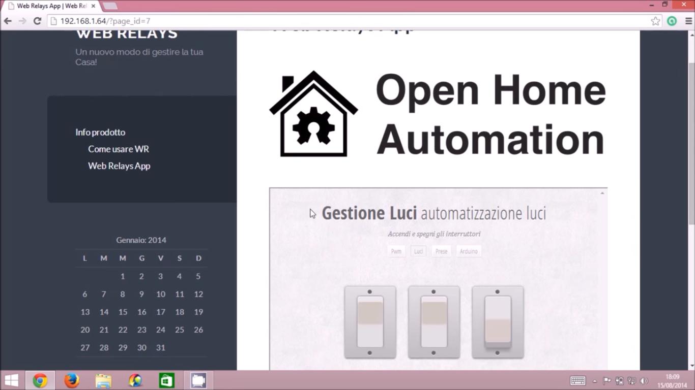 Video tutorial software domotica raspberry pi